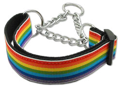Rainbow Stripe Martingale Collars